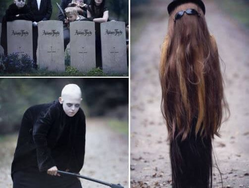 Anna Węcel Photographed A Family Dressed Up As The Addams Family, And The Entire Album Is Full Of Wonders!
