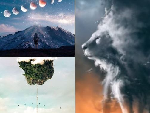 """From """"Square-Shaped Trees"""" To """"Flying The Clouds,"""" This Artist Surely Attempts To Shape The World In A Different Style!"""