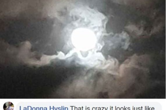 Woman Captures Once In A Lifetime 'Eye Of The Storm' Moment, And People Say It's Jesus Looking Down On His Kingdom!