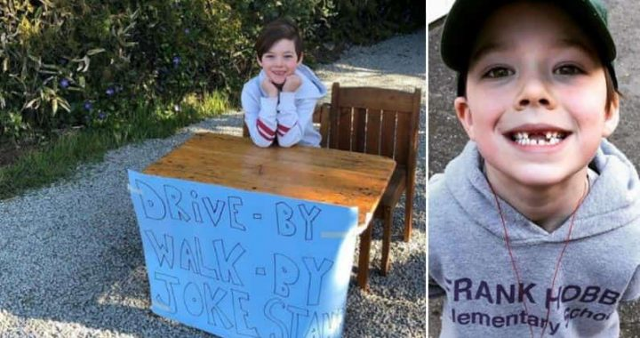 6-Year-Old Boy Runs Joke Stand Instead Of Selling Lemonade To Make People Smile During The COVID-19!