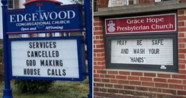 10+ Amusing Church Signs About The Coronavirus Outbreak!