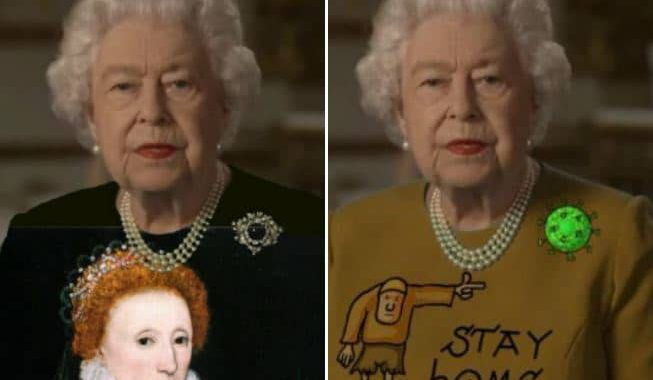 Queen Elizabeth II Delivers A Heart-Touching Speech In A Green Dress, And The Photoshoppers Did What They Had To!
