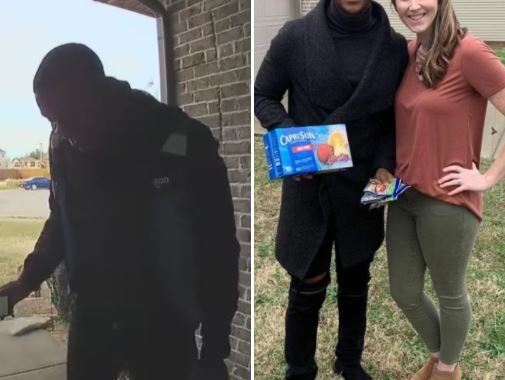 Delivery Guy Befriends A Kind Homeowner, Pics Goes Viral