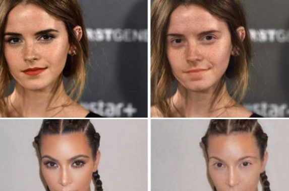 """This """"MAKEAPP"""" App Has A Filter To Remove MakeUp, And People Are Using It To See How Their Favourite Celebrities Look With And Without It! (New Pics)"""