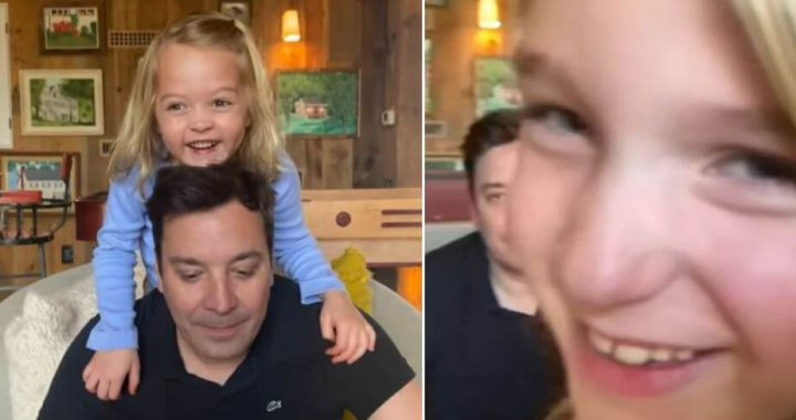 Jimmy Fallon is Trying To Entertain Us From Home, But His Kids Keep Crashing The Monologue, And It's Still Cute!