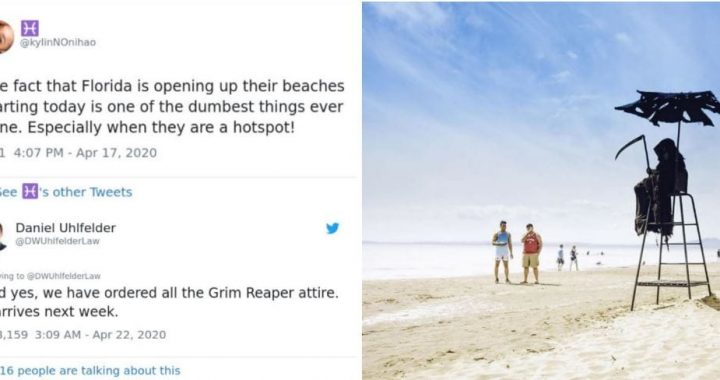 A Lawyer Dressing As A Grim Reaper Is To Appear On Reopened Beaches To Send A Safety Message To Folks Who Are Planning To Go For A Walk!